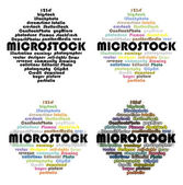 Names of microstock agenices — Stock Photo