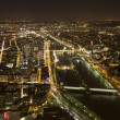 Stock Photo: Cityscape of Paris, France at night