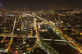 Cityscape of Paris, France at night — Stock Photo