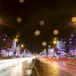Champs-Elysees street at night in Paris — Stock Photo