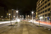 Streets of Brussels at night — Stockfoto