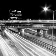 Highway at night — Stockfoto