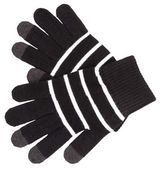černé rukavice s bílými pruhy — Stock fotografie