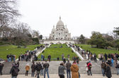 Montmartre Cathedral in Paris, France — Stock Photo