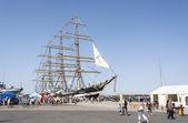 Krusenstern ship at harbor in Tallinn, Estonia — Stock Photo