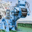 Industrial machine on a ship — Stock Photo