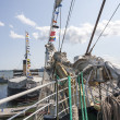Stock Photo: Fore of avsail ship