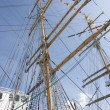 Masts of a sail ship — Stock Photo