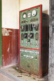 Old machine control panel — Stock Photo