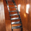 Stock Photo: Turning stair in wooden room