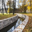 Water canal in autumn — Stock Photo