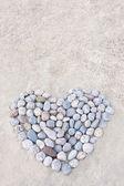 Srdce z kulaté kameny — Stock fotografie