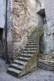 Old ancient stone made stairlead to a door — Stock Photo