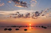 Beautiful summer sunset at sea — Stock Photo