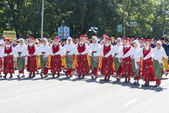 Parade of Estonian national song festival in Tallinn, Estonia — Foto de Stock