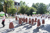Parade of Estonian national song festival in Tallinn, Estonia — Stock fotografie