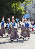 Parade of Estonian national song festival in Tallinn, Estonia — Stock Photo
