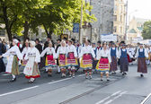 Parade of Estonian national song festival in Tallinn, Estonia — Stockfoto