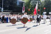 Parad av nationella estniska sångfestivalen i tallinn, Estland — Stockfoto