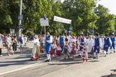 Parade of Estonian national song festival in Tallinn, Estonia — Stock Photo