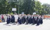 Parade of Estonian national song festival in Tallinn, Estonia — Stok fotoğraf