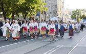 Parade of Estonian national song festival in Tallinn, Estonia — Photo
