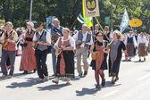 Parade of Estonian national song festival in Tallinn, Estonia — Stockfoto