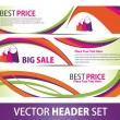 Vector Banner set - Stock Vector