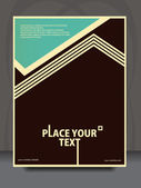 Vector vintage flayer design — Stockvektor