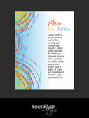 Abstract flayer waves with curves of your text, vector illustration, EPS 10 — Stock Vector