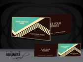 Vector vintage Business card set — Stock Vector