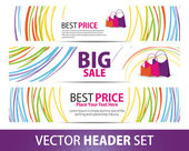 Vector Banner set — Stock Vector