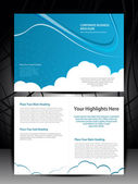 Double fold brochure design elemenr, vector illustartion.. Eps 10 — Vecteur