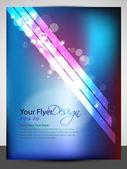 Diseño de flyer abstracto con olas verdes brillantes, eps 10 — Vector de stock