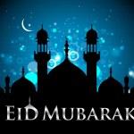 Eid double fold brochure — Stock Vector