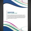Beautiful Abstract Flyer Design, Cover page design, Colorful waves. — Stock Vector
