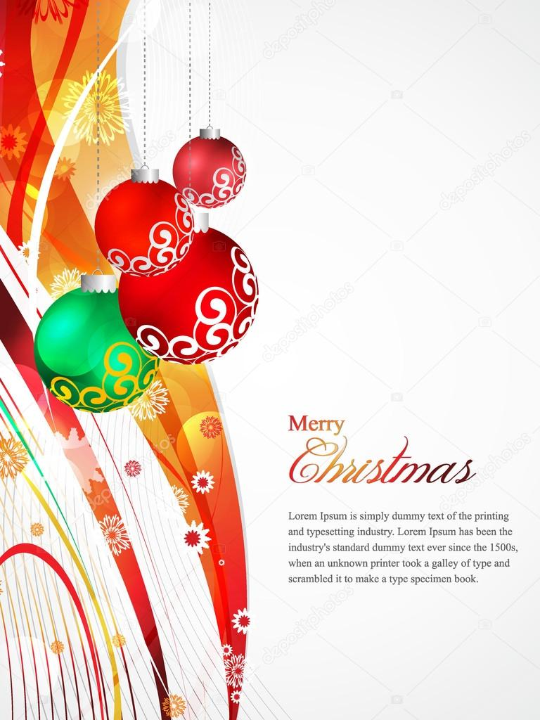 beautiful christmas card sparkling flyer colorful background beautiful christmas card sparkling flyer colorful background vector illustration bells snowflakes