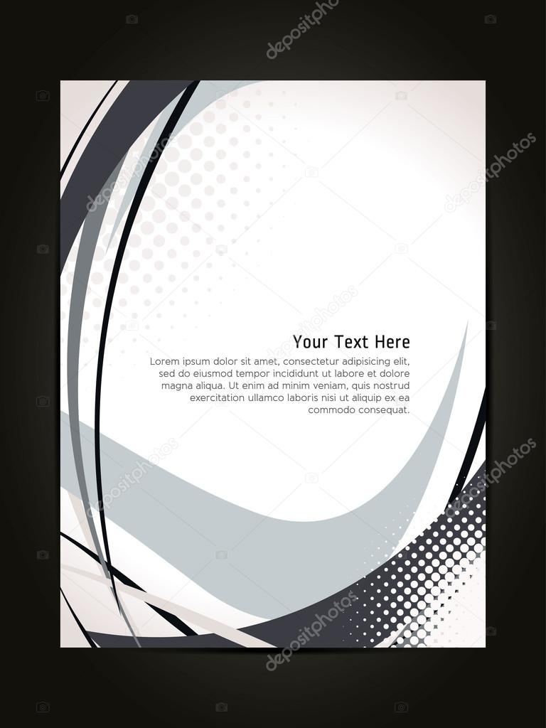 beautiful abstract flyer design cover page design colorful waves beautiful abstract flyer design cover page design colorful waves stock illustration