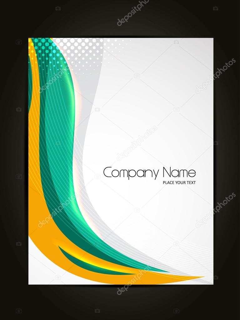 Beautiful abstract flyer design cover page design for Page design ideas