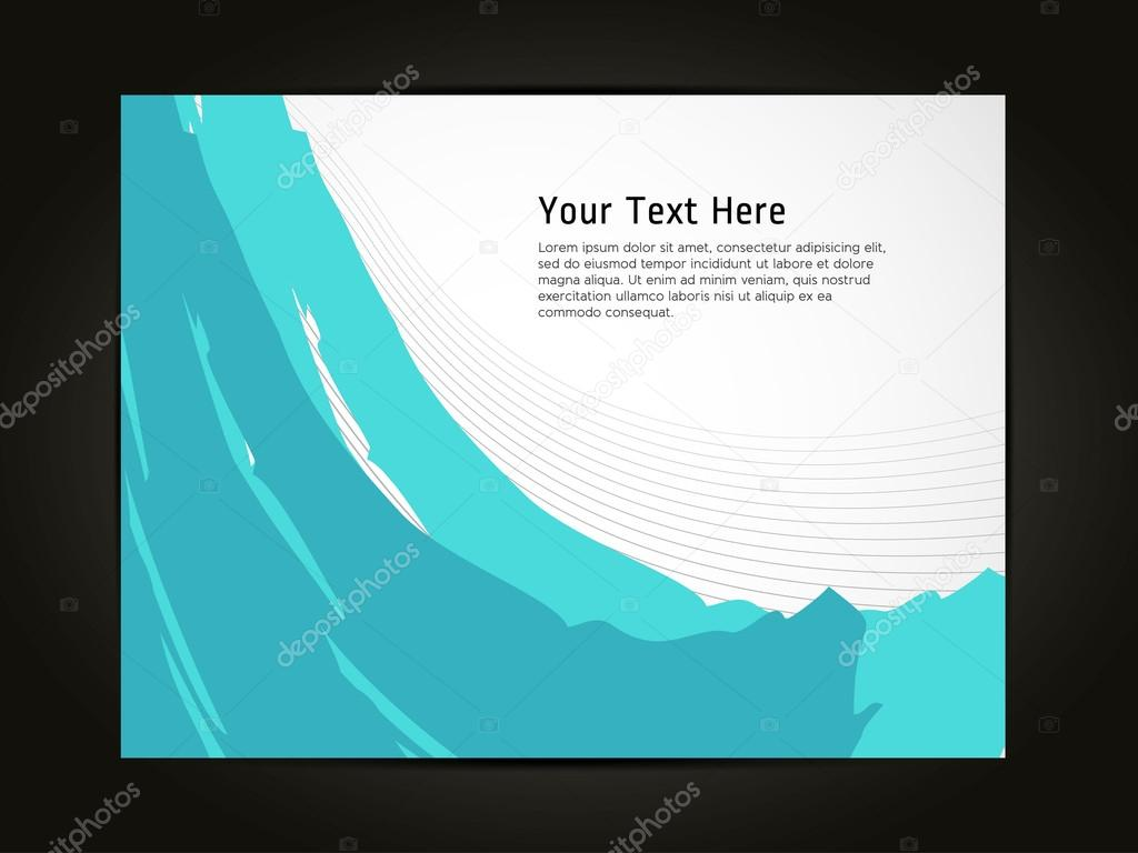 beautiful abstract flyer design cover page design colorful waves beautiful abstract flyer design cover page design colorful waves stock vector professional