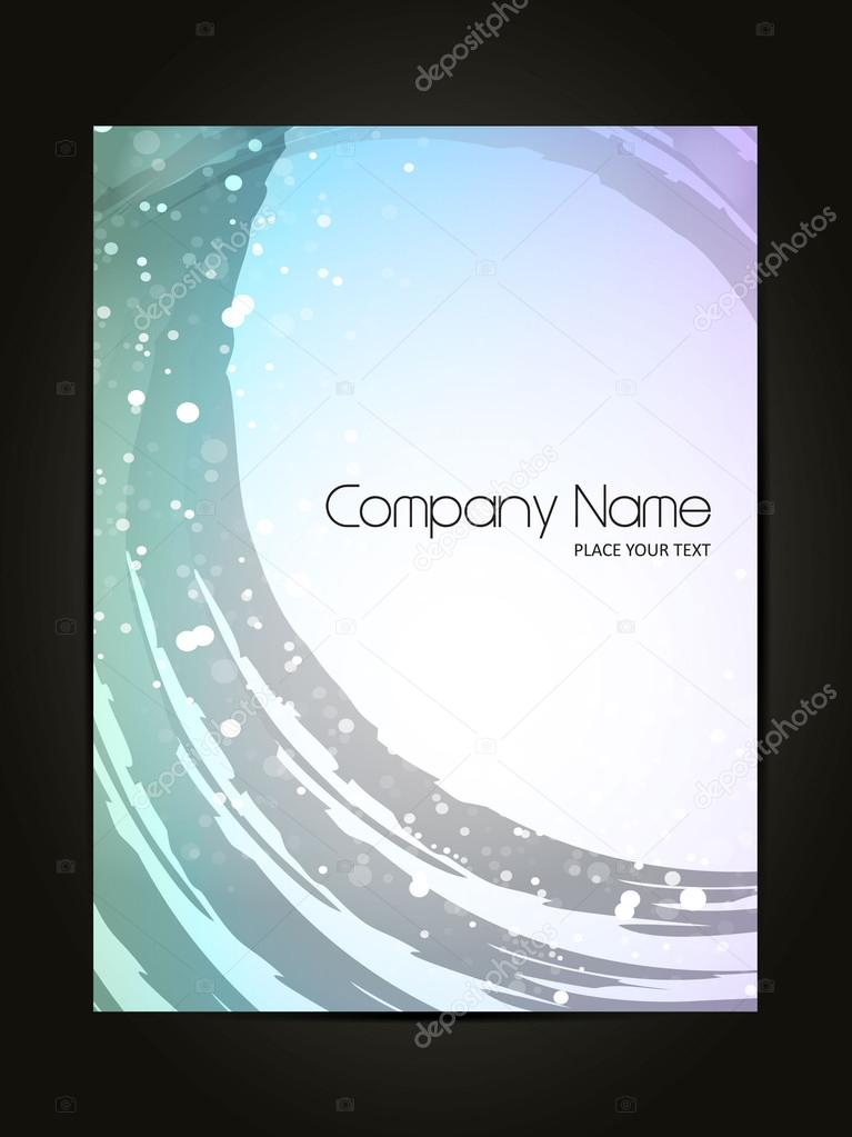 abstract cover page design