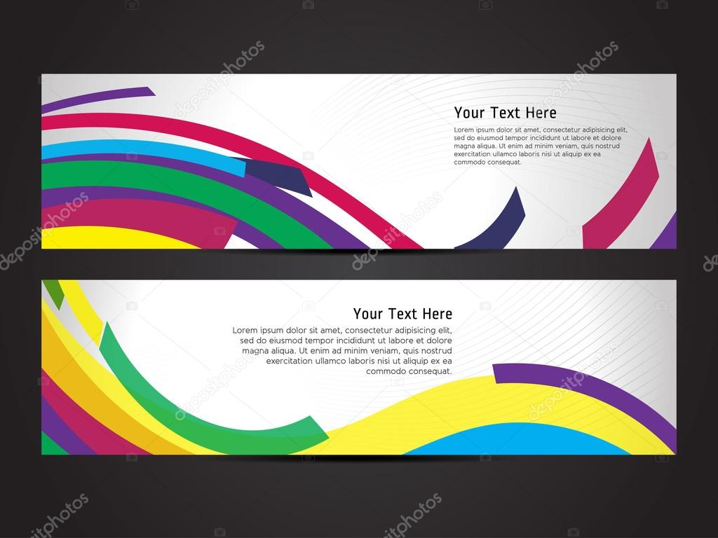 beautiful abstract banner set design cover page design colorful beautiful abstract banner set design cover page design colorful waves stock vector professional