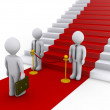 Businessman is refused access to stairs with red carpet — ストック写真 #11826352