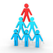Human figures form a pyramid — Stock Photo