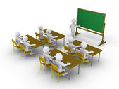Paying attention to the classroom — Stock Photo