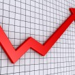 Arrow graph going upwards — Stock Photo