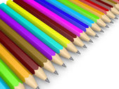 Many pencils as diversity concept — Stock Photo