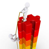 Person helping another to reach the top — Stock Photo