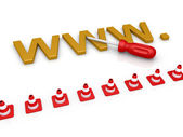 Web page is to be repaired — Stock Photo