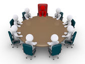 Boss and businessmen in a meeting — Stock Photo